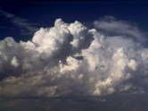 Notice the top and edges of these cumulus clouds are similar to the tops and edges of cauliflower plants.