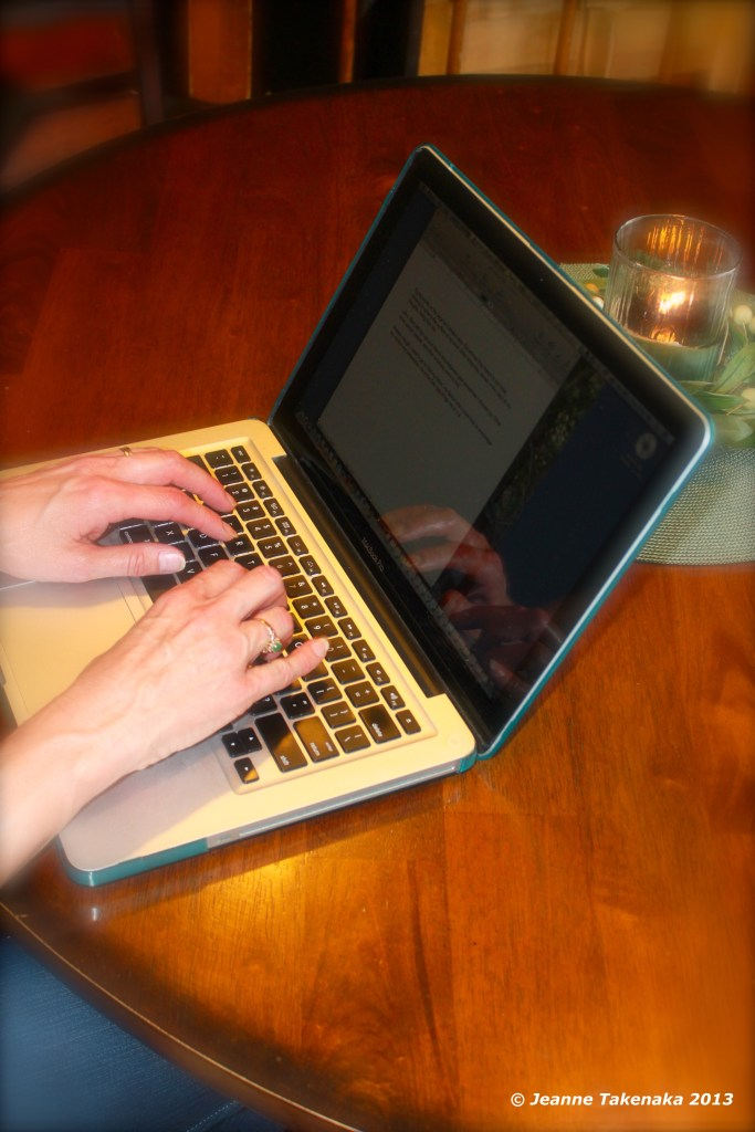 Hands typing on a laptop . . . visual for me pursuing my writing dream