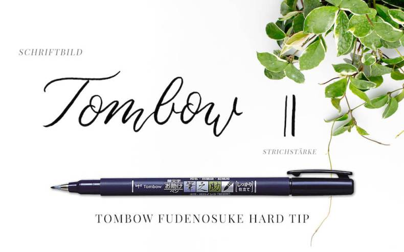 Brushlettering, Kalligraphie, Brush Lettering, Typography, Typo, Pinselstifte, Pinselschrift, Hand Lettering, Tombow Fudenosuke hard