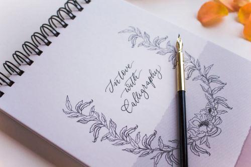 Linienblock Hand Lettering Handlettering Brushpen Kalligrafie Kalligraphie Papier Linienblatt Linienblätter Vorlage Übungsblock Übungen Copperplate Moderne Kalligrafie liniertes Papier