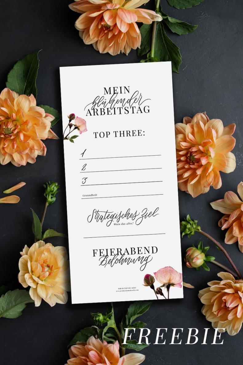 Selbstständigkeit Kreativ Effektiv arbeiten Selbstständig Freebie Künstler Kalligrafie Kalligraphie Hand Lettering Checkliste Arbeitstag Erfolg erfolgreich
