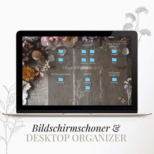 Bildschirmschoner Trockenblumen Desktop Chaos Ordnung Screen Ordner Chaos
