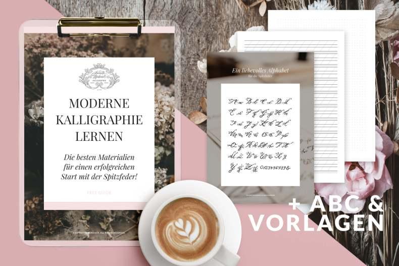 Moderne Kalligraphie lernen Tusche Feder Federhalter Papier eigenen Stil finden