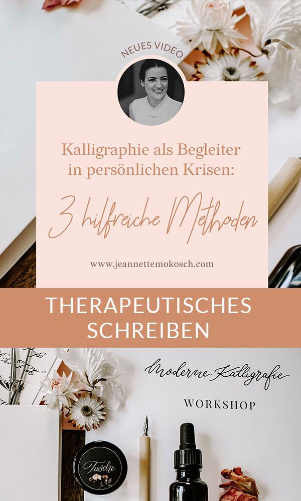 Therapeutisches Schreiben Meditatives Schreiben Kalligraphie Anleitung Workshop Übungen Hand Lettering