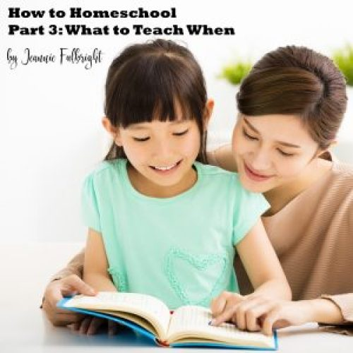 How to Homeschool: What to Teach When