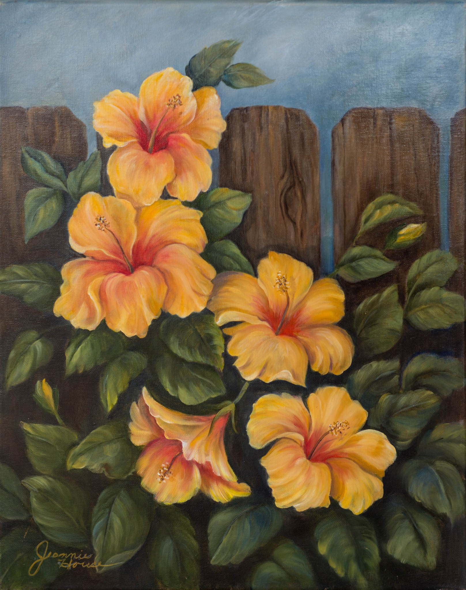 Yellow Hibiscus by Jeannie House