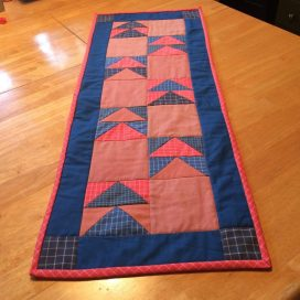 The finished table runner.