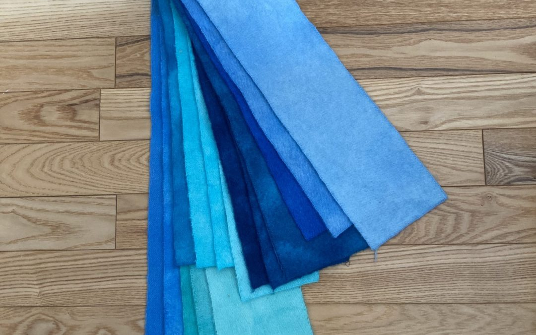 Dyeing for Rug Hooking #3 – Blue