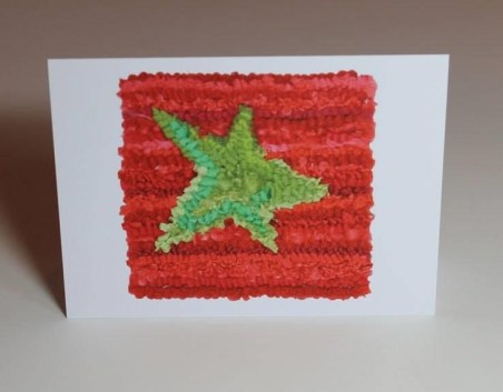 Green Star on Red