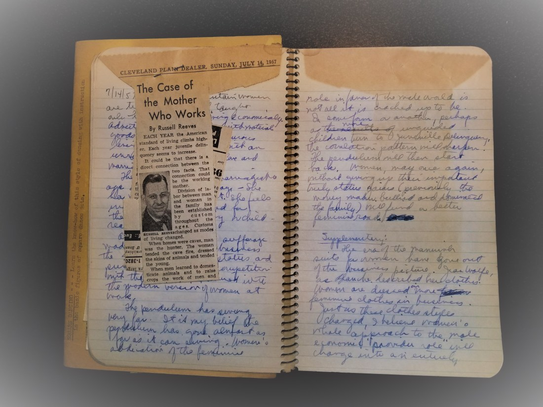 JOZ Journal Entry first two pages for 14 July 1957