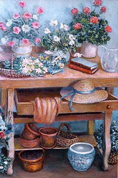 Gardening Bench - Still Life