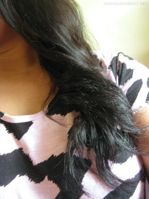 After using the Intensive Conditioner and with Miracle Water