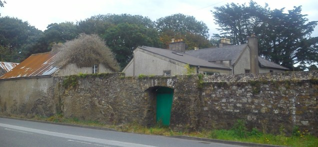 thursday doors, youghal, cork ireland, old stone wall