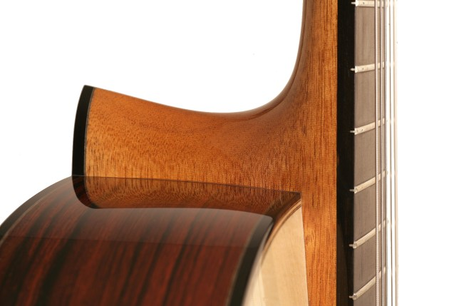 Raised fingerboard, Madagascar Arch back Rompré classical guitar with a one piece mahogany neck
