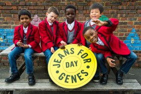 Pupils at Cumner House School, South Croydon celebrate Jeans for Genes Day. By Lucy Young 07799118984 lucyyounguk@gmail.com www.lucyyoungphotos.co.uk