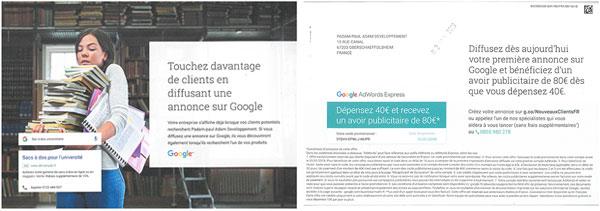 Google donne l'exemple, par la poste