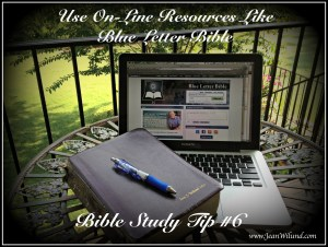 Click photo to read how the Blue Letter Bible Website can help you study the Bible.