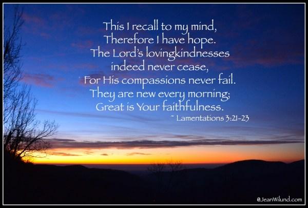 Lamentations 3:21-24