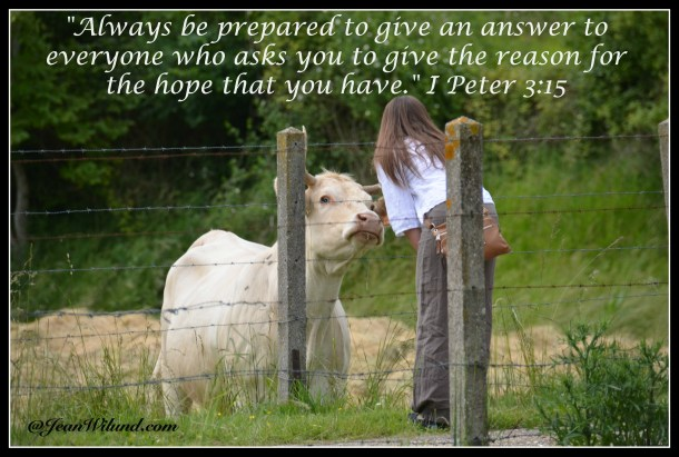 When you've got the Good News, you want to share it with anyone who'll listen! (I Peter 3:15)