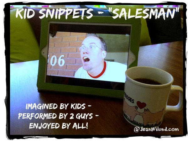 """Click to view the hilarious video by Kid Snippets: """"Salesman"""""""