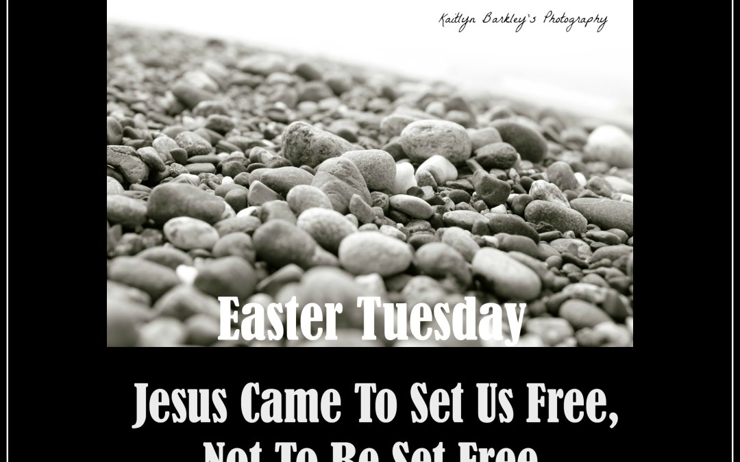 A Cross, Not a Stone Because Jesus Came to Set Us Free, Not Be Set Free