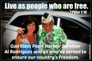 God Bless Al Rodrigues Pearl Harbor Survivor