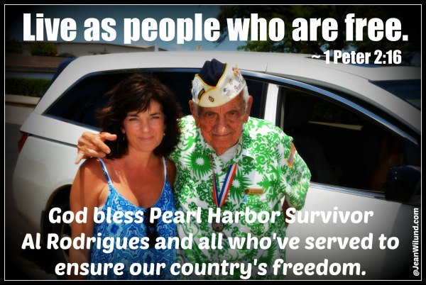Listen to Pearl Harbor Survivor Al Rodrigues share his story. And be encouraged to live Free in Christ.