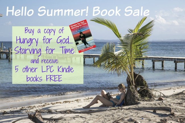 Five Free books for Summer Reading with the purchase of Hungry for God, Starving for Time Summer Book Promo. Check it out!