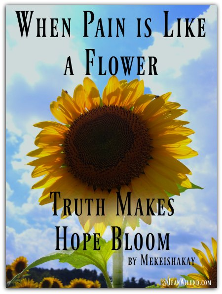 When Pain is Like a Flower, Truth Makes Hope Bloom by Mekeishakay via www.JeanWilund.com