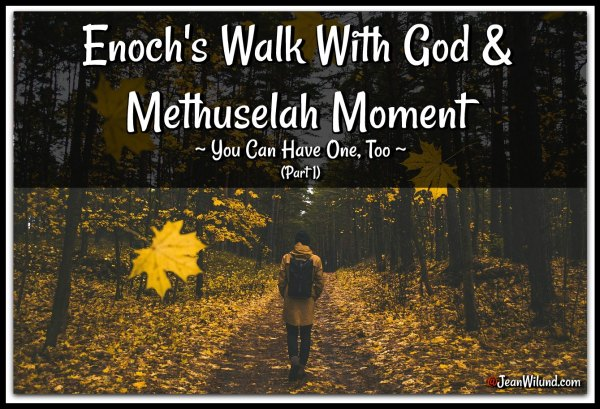 Enoch walked with God & had a Methuselah Moment (You Can, Too) Part 1 via www.JeanWilund.com