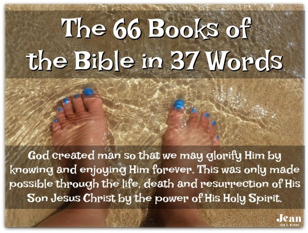 The 66 Books of Bible in 37 Words (Welcome to the Bible series) via www.JeanWilund.com