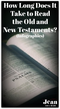 How Long Does it Take To Read the Old and New Testaments? via www.JeanWilund.com