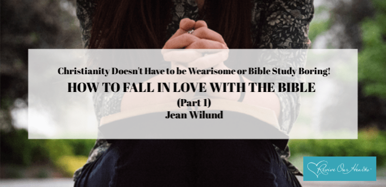 Christianity Doesn't Have to Be Wearisome or Bible Study Boring: HOW TO FALL IN LOVE WITH THE BIBLE (Part 1)