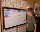 Building words with letter tiles