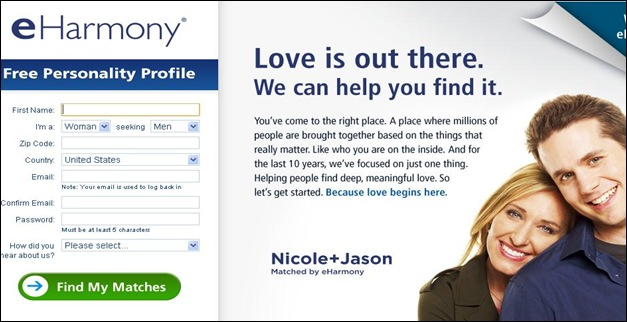 Websites like eharmony