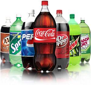 Sodas in 2-liter bottles