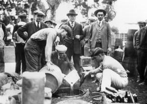Prohibition: Sheriff Dumps Bootleg Booze
