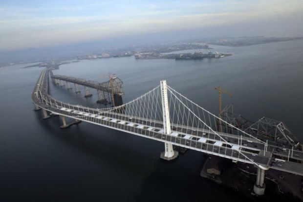 New eastern span of the Bay Bridge - photo SF Chronicle
