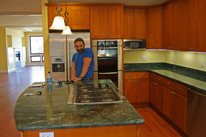 Market St Kitchen - Green Marble Counters!
