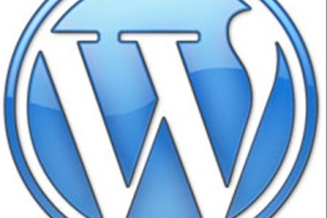 WordPress logo in blue