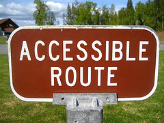Road sign: Accessible Route