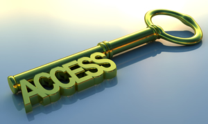 Key in the shape of the word Access
