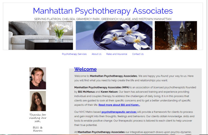 screenshot of Manhattan Psychotherapy Associates