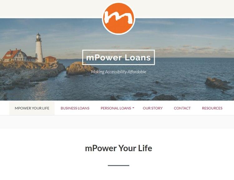 screen shot mPower Loans