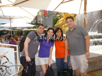 Damien, Romina, Victor and I meeting for the first time in NYC.