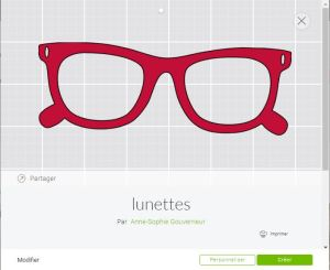 CRicut design space français lunettes