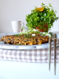 Galette de quinoa végétarienne