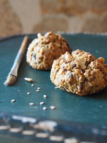 savoureux bicuits sans gluten aux graines diverses et flocons de riz