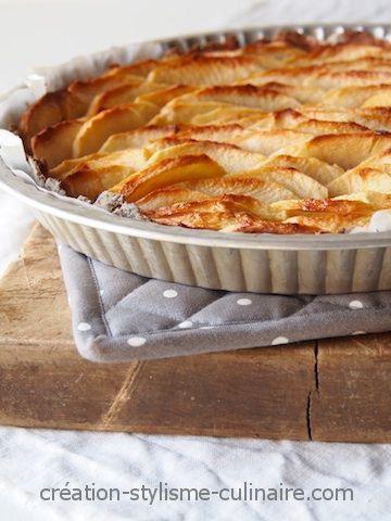 Une pâte à tarte sans gluten pour accueillir des pommes bien dorées