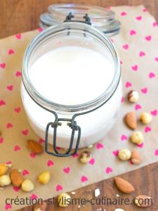lait d'amande et noisette